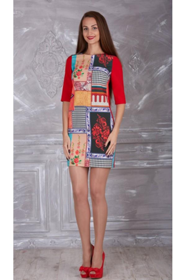 Плаття 321-03 червоне