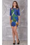 Платье 321-02 синее