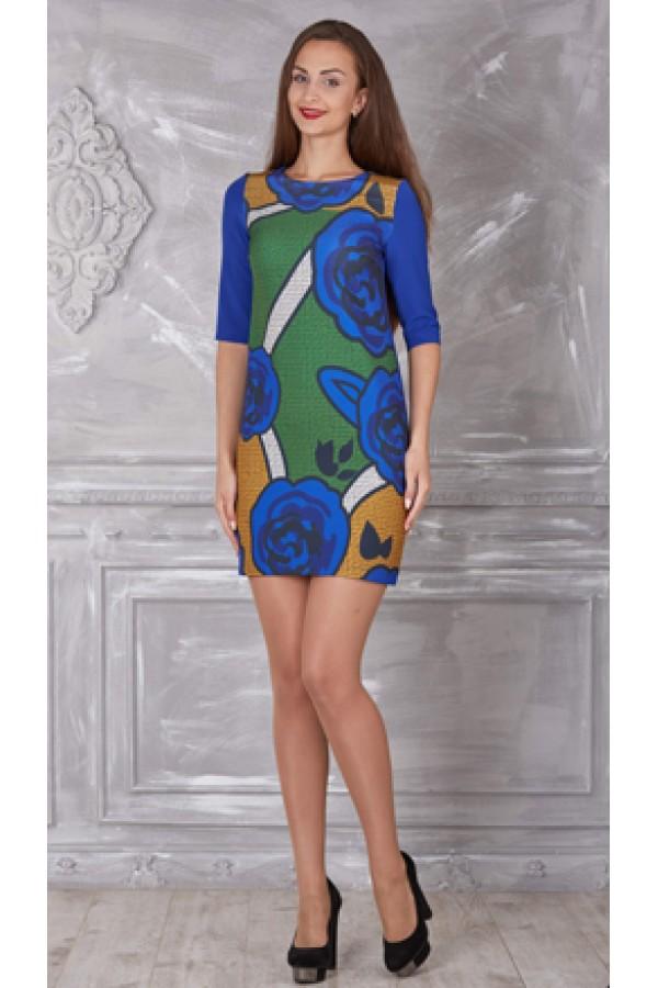 Плаття 321-02 синє