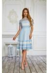 Платье 476/1-03 голубое