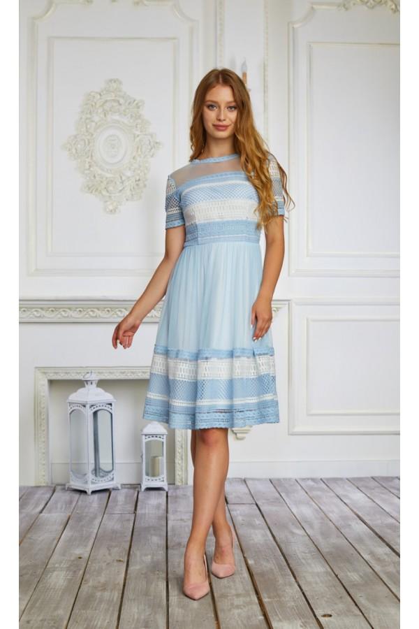 Плаття 476/1-03 блакитне