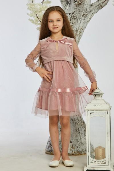 Детское платье 5-01 розовое
