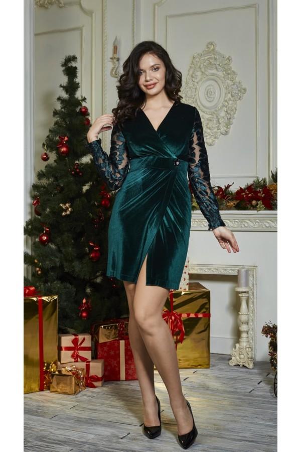 Платье 545-01 зеленое
