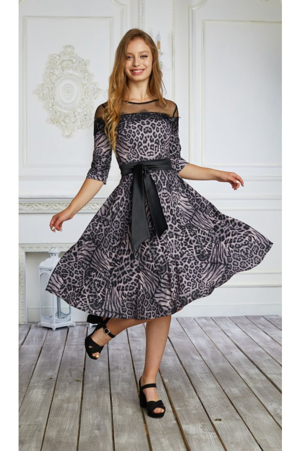 Плаття 556-01 тигрово фіолетове