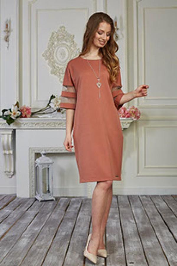 Платье 576-01 персиковое