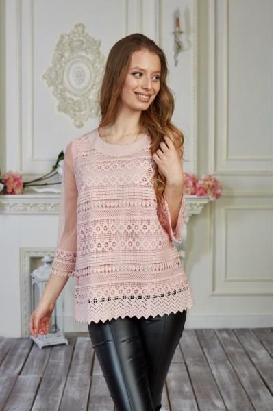 Блуза 578-01 персиковая