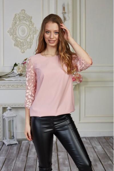 Блуза 579-02 розовая