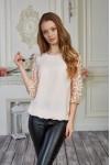Блуза 579-01 бежева