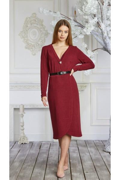 Платье 623-01 красное
