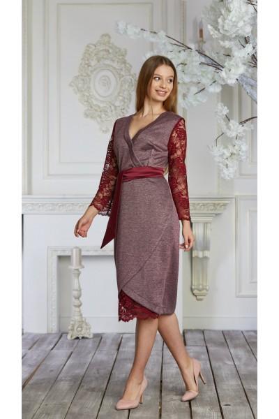 Платье 624-02 марсал