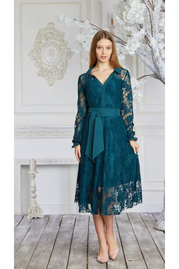 Платье 625-01 зеленое