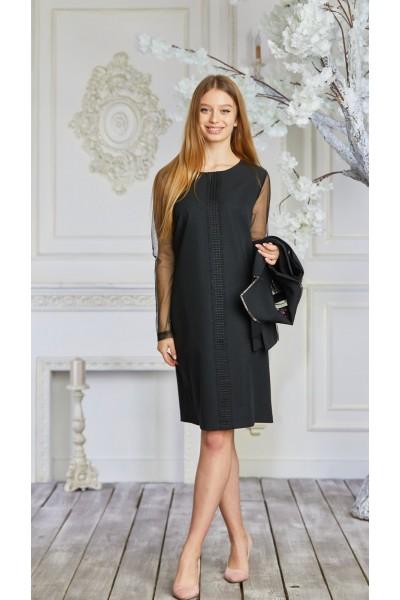 Платье 628-02 черное