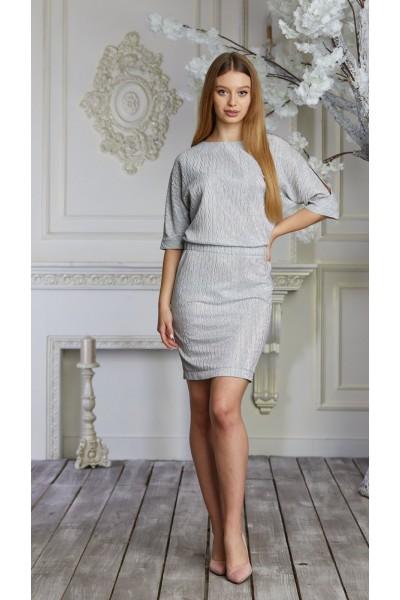 Платье 633-02 серое
