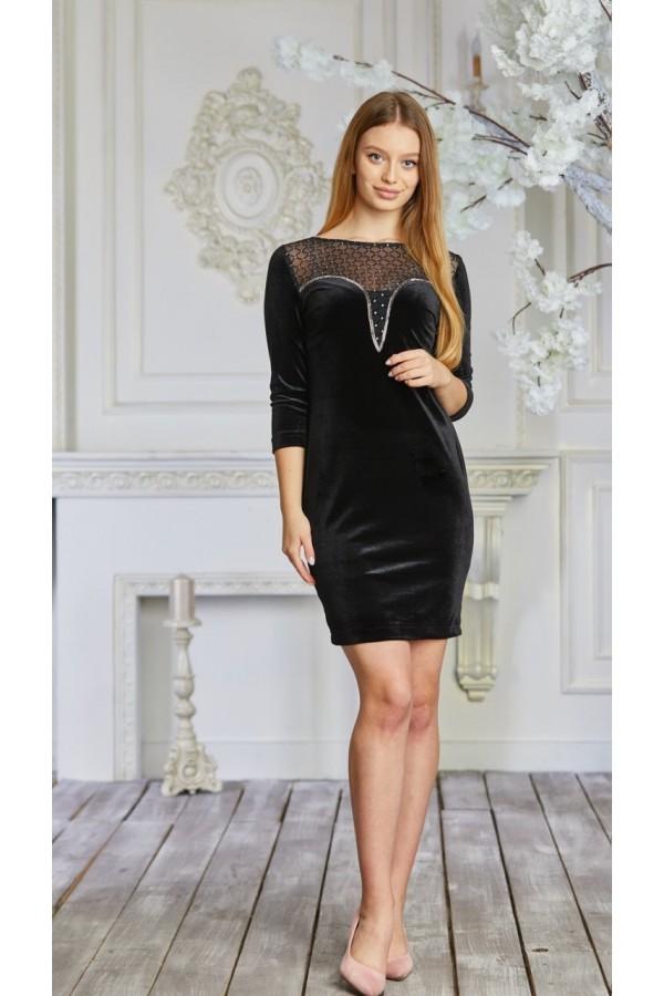 Платье 634-01 черное