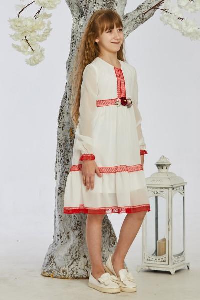 Детское платье 9-01 белое