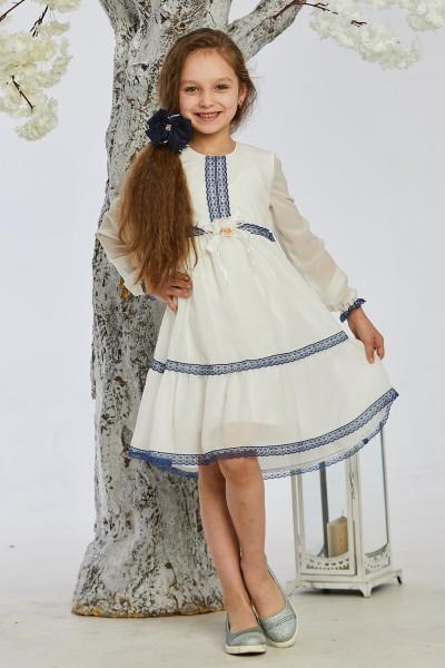 Детское платье 9-02 белое
