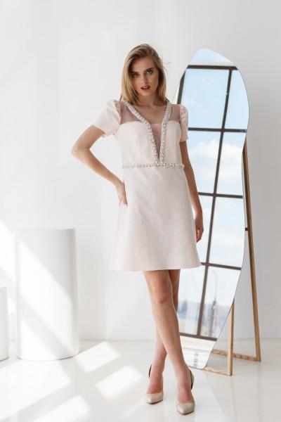 Платье 00-01 розовое