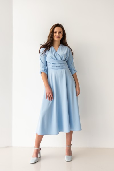 Платье 00-02 голубое