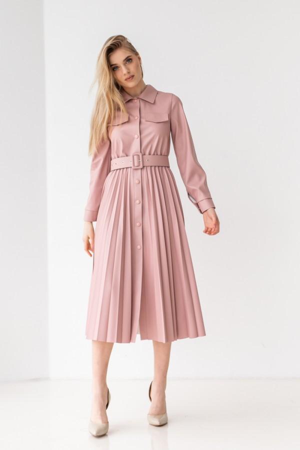 Красива сукня 172-06 пудрового кольору