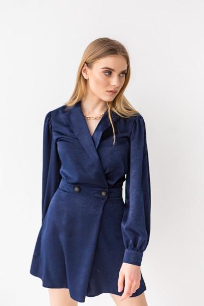Комбинезон платье 217-01 темно синее