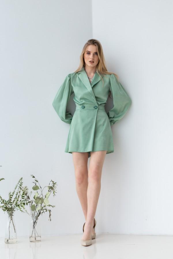 Комбинезон платье 217-02 оливковое
