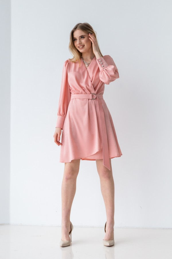 Плаття 219-01 кольору пудри