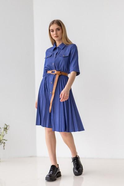 Платье 225-01 синее