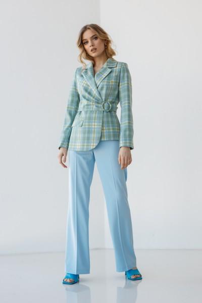 Костюм 229-01 бирюзовый голубые брюки
