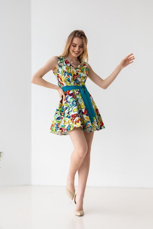 Платье 303-04 с бабочками