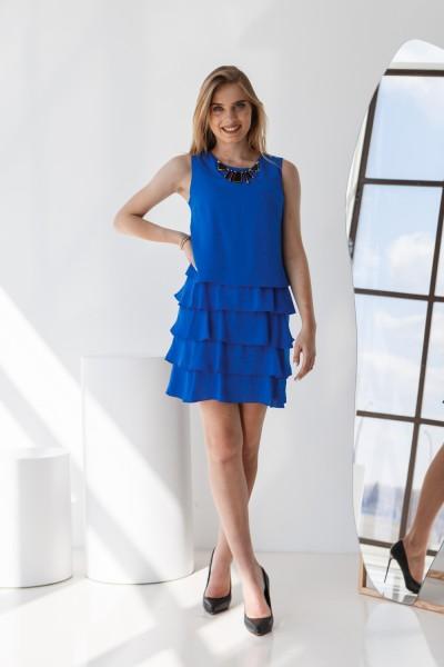 Платье 304-01 синее
