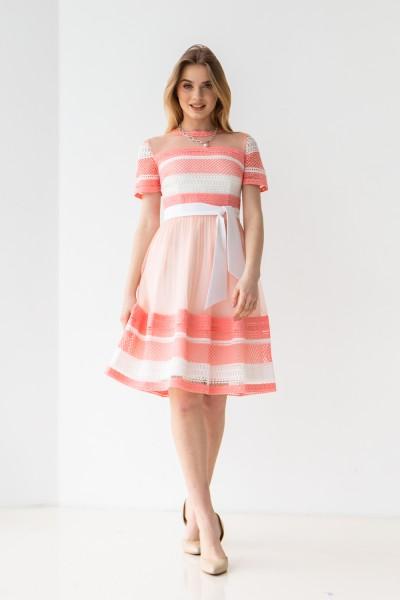Платье 476/1-01 цвет пудра