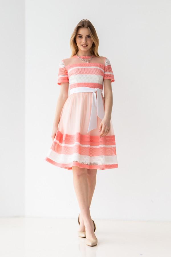 Плаття 476/1-01 колір пудра