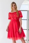 Платье 485-02 коралловое