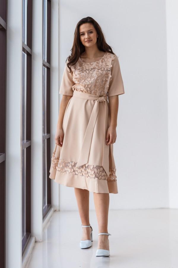 Платье 517-01 бежевое