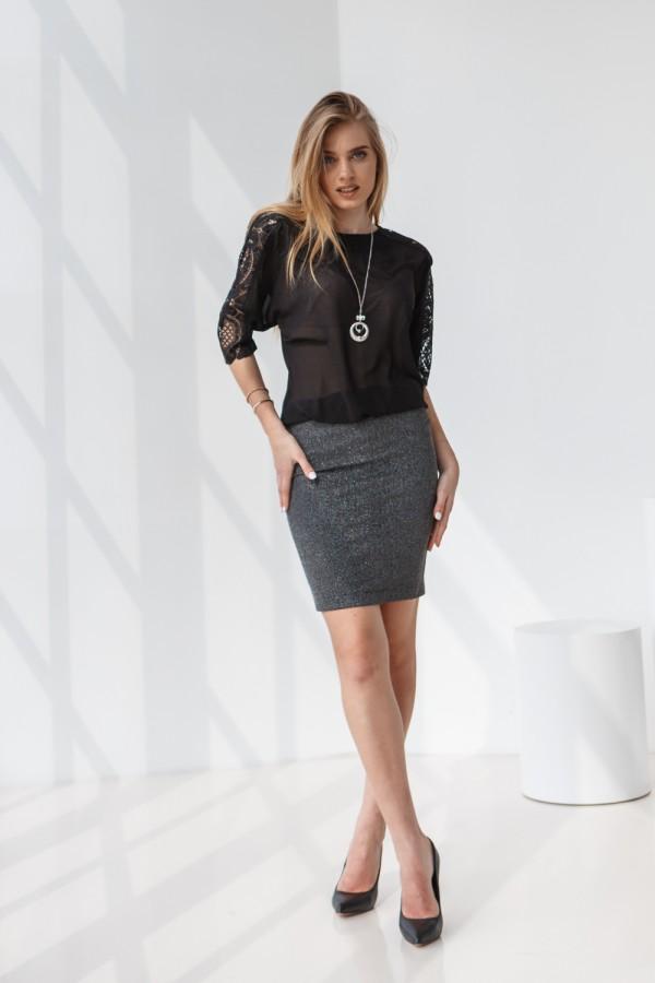 Платье 554-03 черное