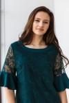 Платье 557-02 темно зеленое