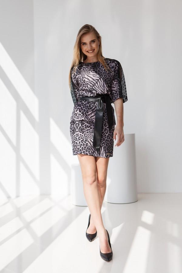 Платье 558-01 леопардовое