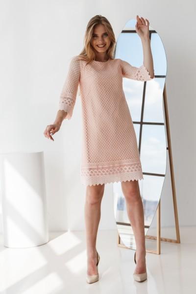 Плаття 583-02 рожеве