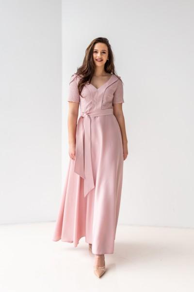 Плаття на випускний 587-02 рожеве