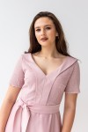 Платье на выпускной 587-02 розовое