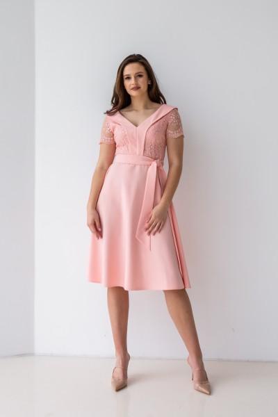 Плаття 589-03 персикове