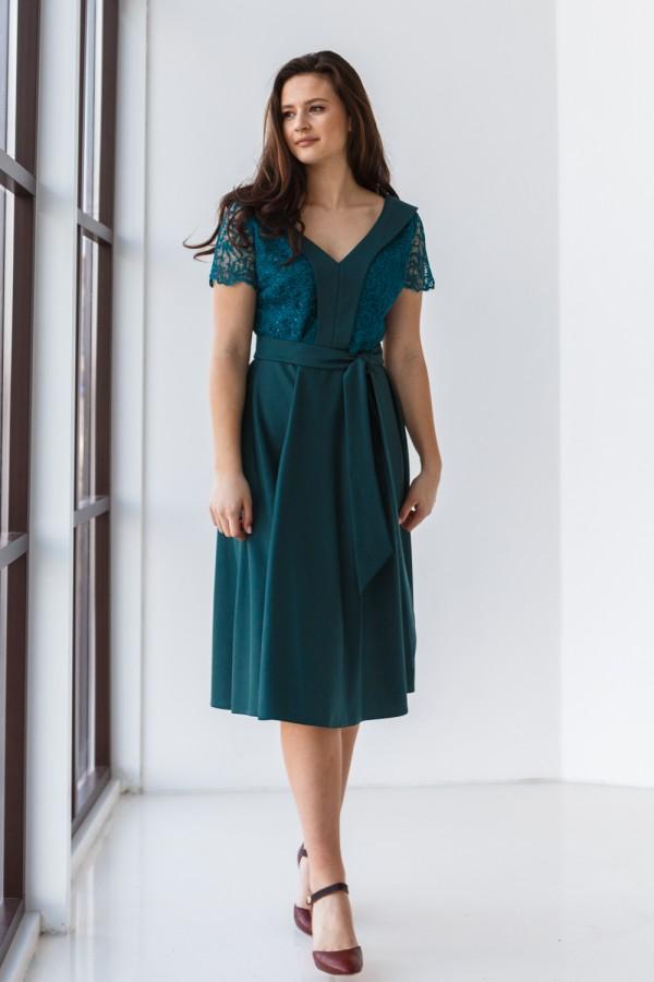 Платье 589-04 зеленое