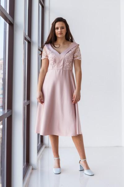 Платье 589-05 бежевое