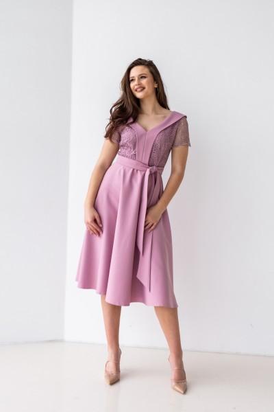 Платье 589-08 сиреневое