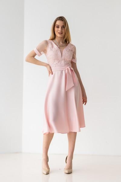 Платье 591-01 пудра