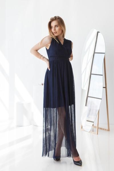 Плаття 596-01 темно-синій