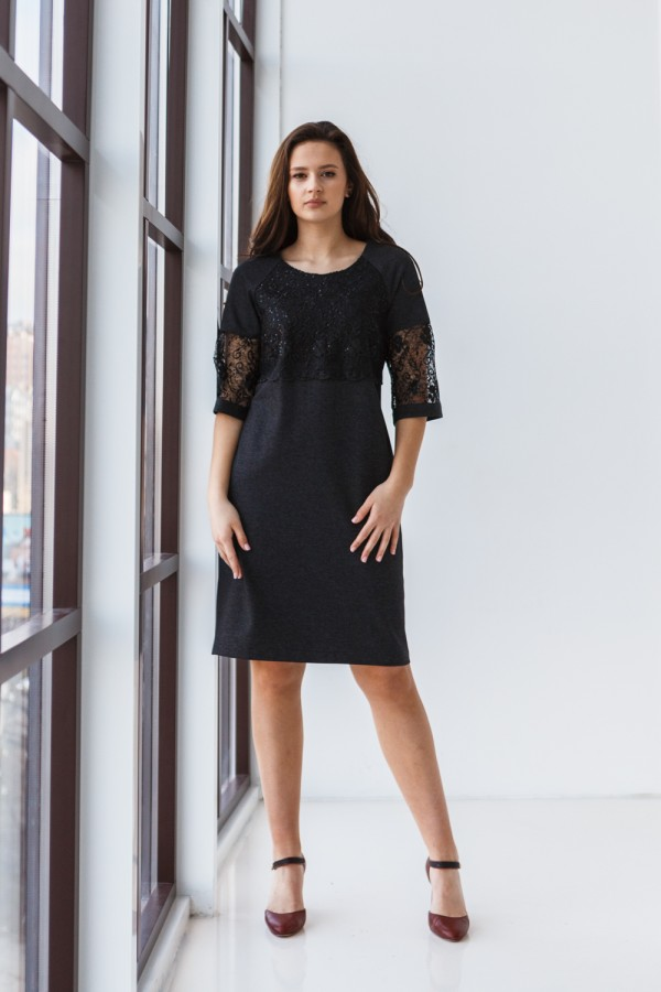 Плаття 606/1-01 чорне