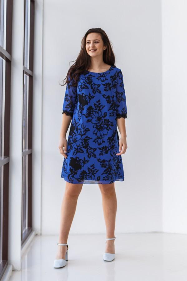 Плаття 613-01 синє