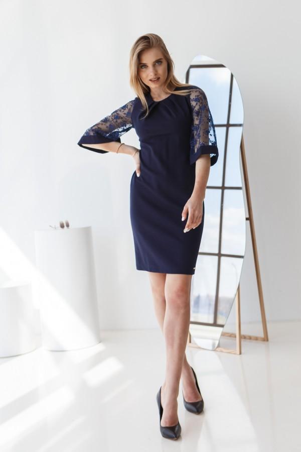 Платье 617-01 синее