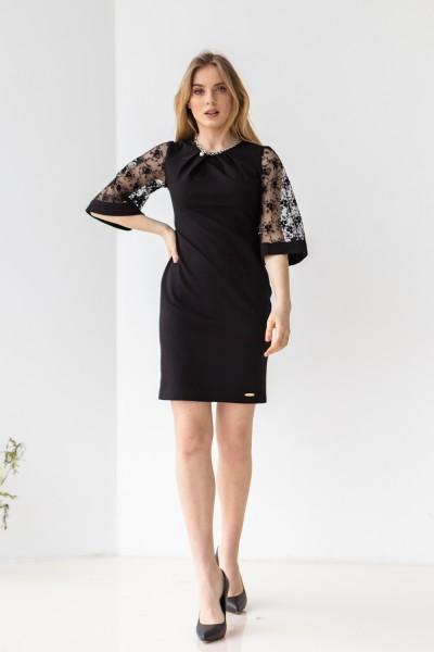 Платье 617-02 черное